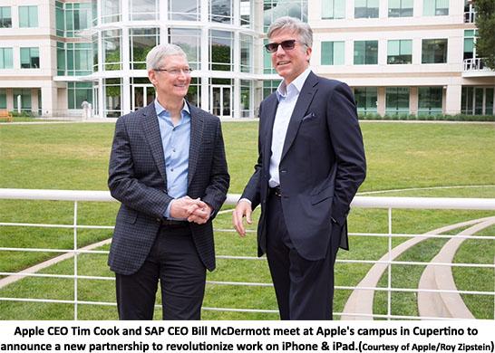 Apple - SAP Tim Cook - Bill Mc Dermott