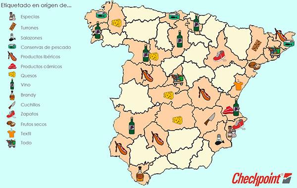 CheckPoint - Mapa etiquetado en origen